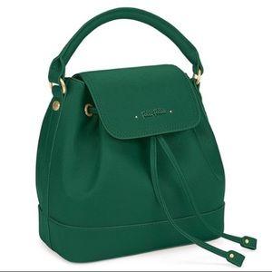 NWOT Green Uptown Beauty Bucket Handbag